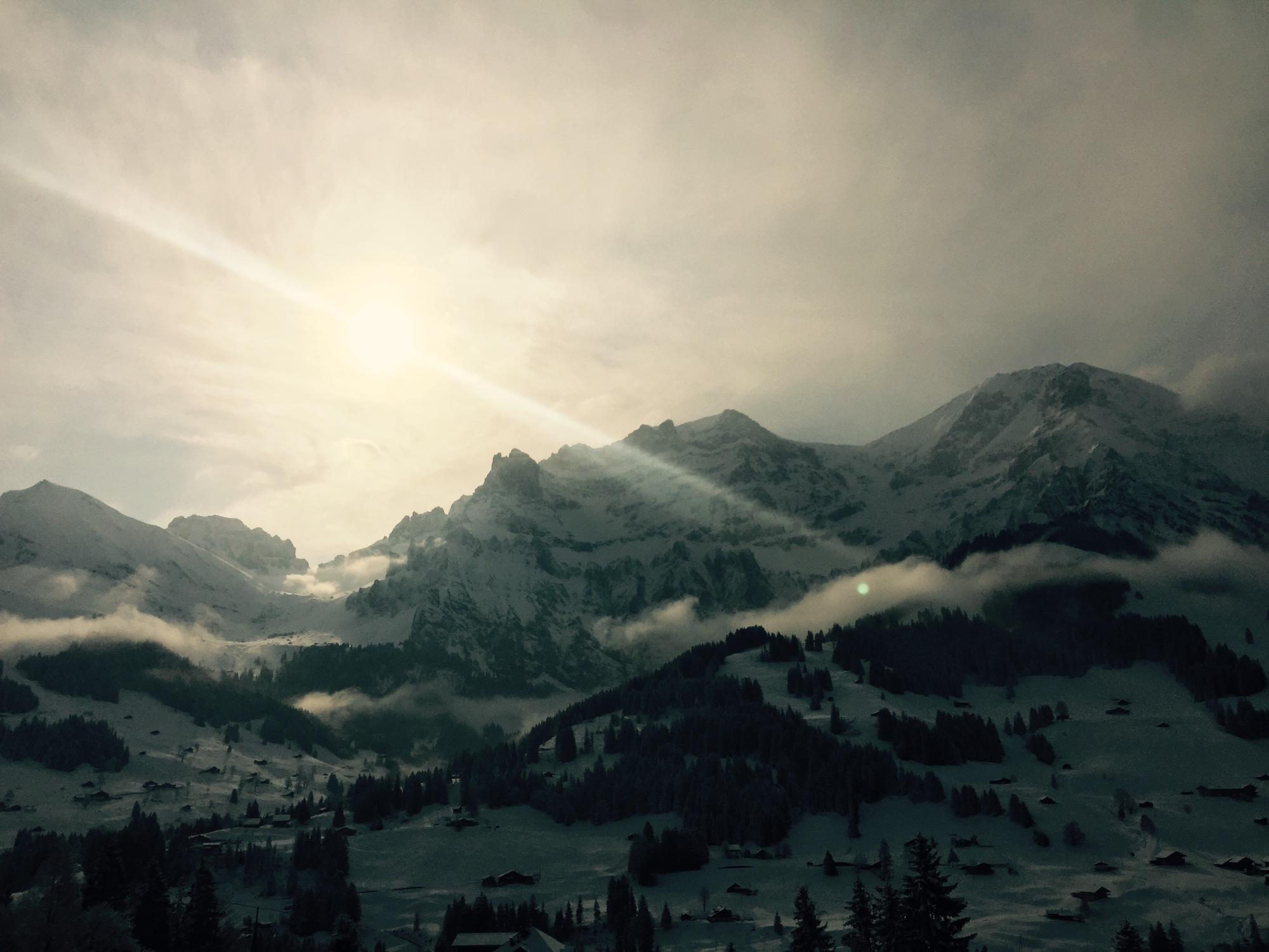 morning snow mountain