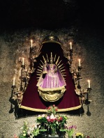 virgin mary purple garment