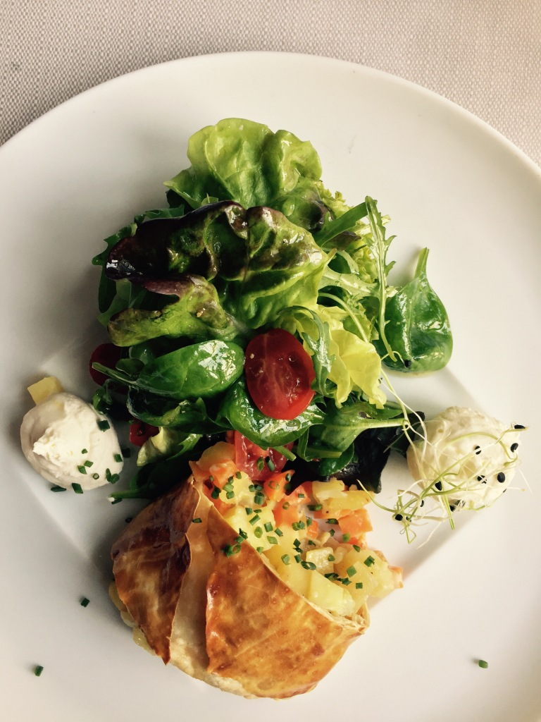 potato vegetables strudel salad