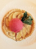 apple tart cranberry sorbet dessert
