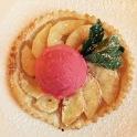 apple tart cranberry sorbet dessert