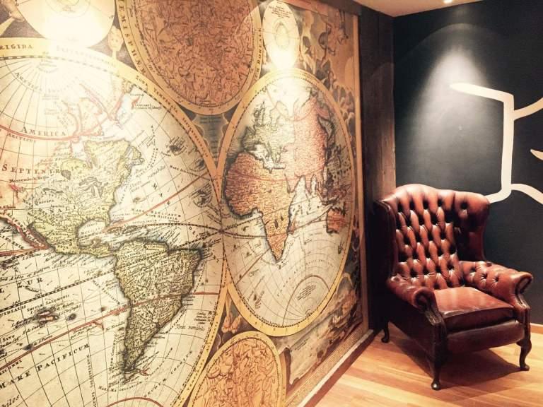 room map armchair