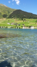 lake panoramic view davos