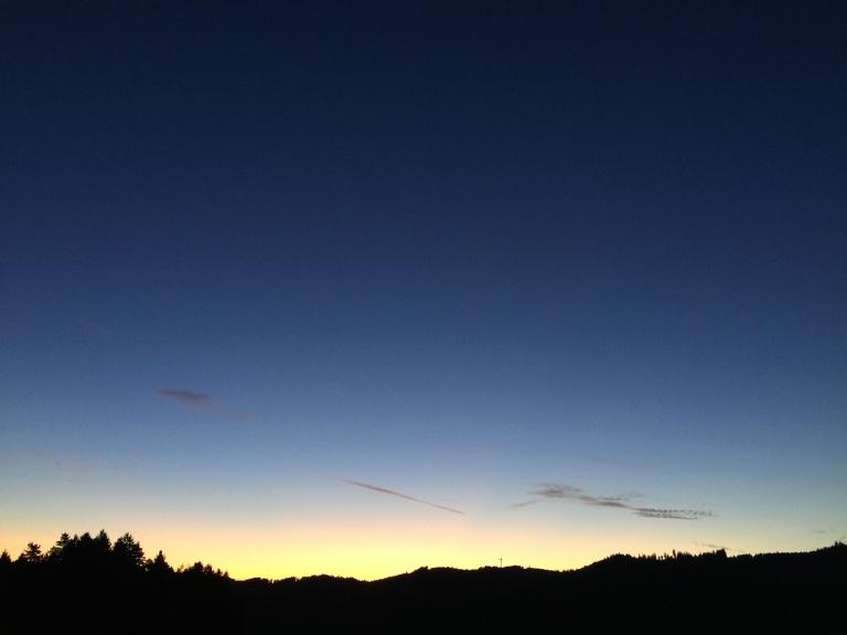 balcony elztalhotel sunset schwarzwald